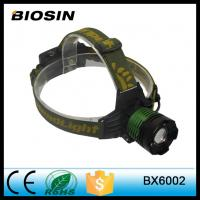 Double light source zoomable adjustable led rechargeable headlamp with hidden attack rescu