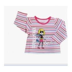 China Long Sleeved Cotton Toddler Graphic Tees For Autumn Baby Wear , round neck T Shirts on sale