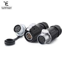 New PBT Material LP20 Auto 7pin Power Circular Waterproof IP65/IP67 Wiring Connector for Outdoor LED Lighting