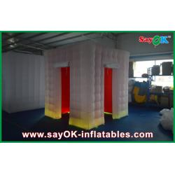 China White Square Inflatable Photo Booth , Two Doors Wall Photo Booth Kiosk on sale