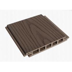 China Extruded Brushed Hollow WPC Decking Board Outdoor For Courtyard Decoration on sale