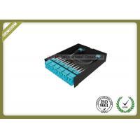 Black 24 Fiber Optic Distribution Box MPO / MTP OM3 LGX For LC Adapter