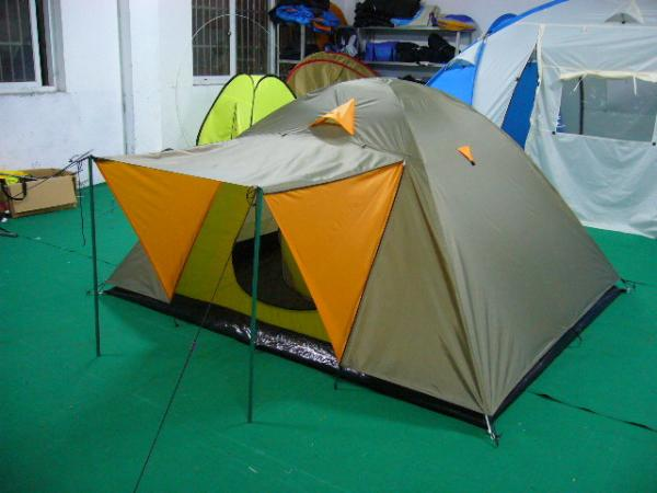 3-person double-layer waterproof camping hiking tent dome ...
