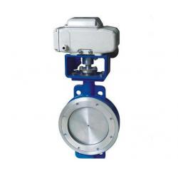 China Eccentric Wafer Electric Actuated Butterfly Valve 10 Inch Stainless Steel on sale