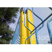 Triangle Bended Pvc Coated Welded Wire Fencing Panels With Steel Post / Powder Coated
