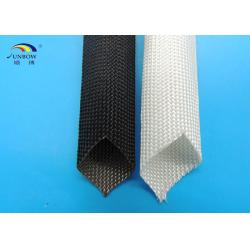 China Braided High Temperature Fiberglass Sleeving , Electric Cable Protection Sleeve on sale