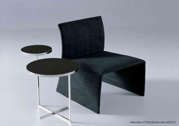 Black Glass Side Table: Glass Metal Sofa Side Tables, Tempered Black Glass End
