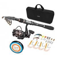 Black Durable Nylon + EVA Material Fishing Rod Case With Handle