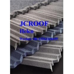 China Stone Coated Roofing Sheet Modern classical tile 1290*370*0.4 mm Install Size on sale