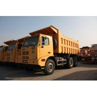 Yellow Heavy Duty Dump Truck / 10 Wheeler Dump TruckWith Steel Cargo Box