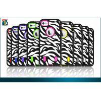 Silicon + PC Iphone 5 Protective Cases Zebra Stripe Design Black / White