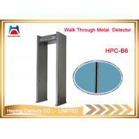 Cheap 6 zone door frame walk through metal detector