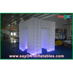 China Custom White Inflatable Photo Booth Shell Enclosure Inflatable Cube Tent Portable on sale