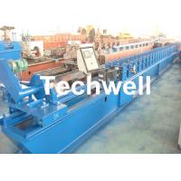 Manual Decoiler Rolling Shutter Door Forming Machine For 13 Forming Stations
