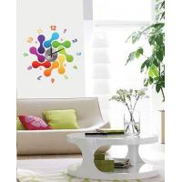 Modern Home Decoration Crystal Bones Wall Sticker Clock 10D012