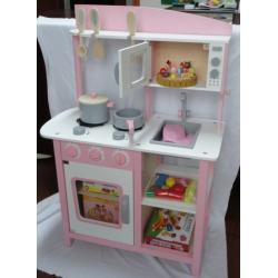 Children s wooden play house children s wooden play house for Cheap kids kitchen set