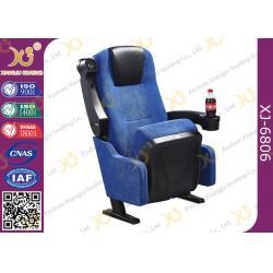 China Blue Fabric Folding VIP Cinema Seating , Plastic Theater Seats on sale