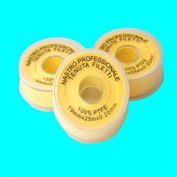 China Yellwo Teflon Tape Gas use , PTFE Thread Seal Tape 19mmx 0.2mm x25m Gas use on sale