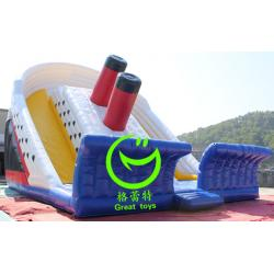 China Best selling  inflatable titanic  slide  for sale with 24months warranty GT-SAR-1648 on sale