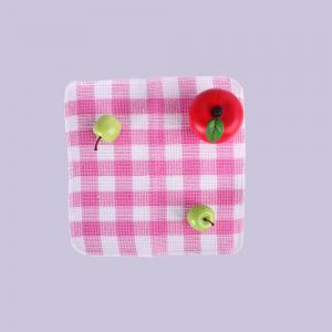 Home Textile Kitchen Tea Towels , Pink And White Walf Checks Kitchen Dish Towels Lint Free