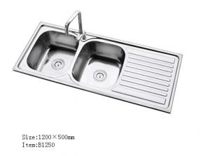 400 X 350mm Anti Vibration Double Bowls Stainless Steel Kitchen Sink Drainboard