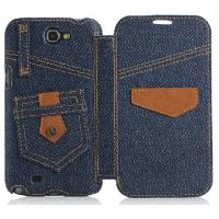 leather wallet stand cowboy case for samsung galaxy s3