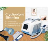 Mini Cryolipolysis Slimming Machine / Weight Loss And Skin Tightening Vacuum Cavitation System