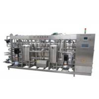 Mango Juice Coconut Milk Sterilizer Machine , Fully Automatic UHT Pasteurization Equipment
