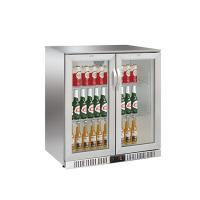 208L Back Bar Cooler Electronic Temperature Control With Led Display and Stainless Steel