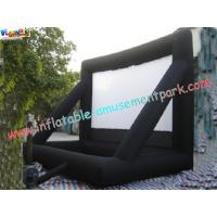 Commercial Portable 0.55mm PVC Tarpaulin Inflatable Projection Screen For Outdoor