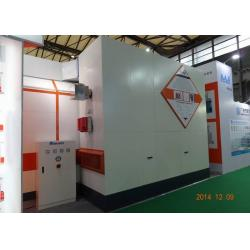 China 7m LED light Car Paint Spray Booth Equipment Rock Wool Panel With Siemens Motor on sale