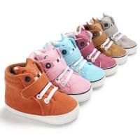 New designed Cotton fabric Cute Cartoon 0-2 years prewalker shoes baby