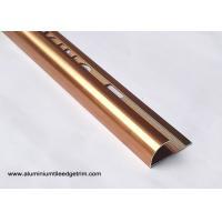 Anodized Coffee Color 10 mm Aluminium Tile Edge Trim For Sri Lanka Market
