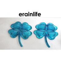 Child Home Decorating Accessories 2 Pcs Blue Polyresin Flower