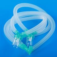 Disposable anesthesia breathing circuit with EVA and PVC materials for adults