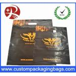 Promotional Die Cut Handle Plastic Recycled Shopping Bags For Packing