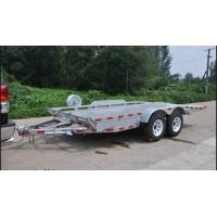 Double Axles 20x6 Flatbed Tandem Car Carrier Trailer , Car Transporter Trailer