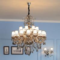 Modern Grey Chandelier Lighting With Crystal For Hotel Indoor home Lighting (WH-CY-33)