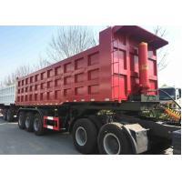60 Ton 45 Ft 40 CBM Tipper Dump Truck And Trailer For Coal Sand Transport