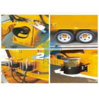 Tulip Yellow Cattle Feed Mixing Machine , Small Feed Grinder Mixer For Dairy Farm