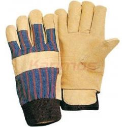 China 11 inch full jersey lining Yellow Pig Grain Driving Winter Leather Gloves 22304 on sale
