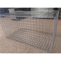 Square Hole Welded Gabion Box , Gabion Wire Mesh For Embankment Protection