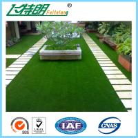 Decoration Laying Fake Grass Turf / PE Curly Landscape Artificial Grass