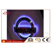 Durable Big Acrylic Stainless Steel Lighted Backlit 3D Car Logos For Volvo