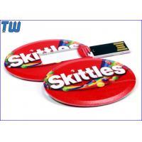 Full Color UV Digital Printing 128GB USB Pendrives Special Oval Card