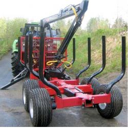 China China supply forestry atv timber trailer with max. loading capacity upto 12tons log crane low cost on sale