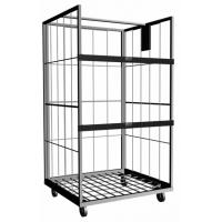 Vertical Steel Roll Cage With Powder Coating or Galvanizing Surface For Material Storage