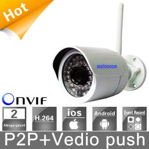 1.0MP H.264 Wireless IP Security Camera CCTV / Office Security Cameras With P2P / Video Push