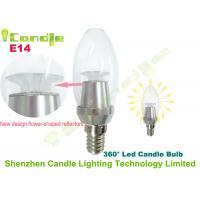 High Brightness Clear Cover 3 Watt Dimmable Led Candle Light Bulb E14 3000k 4000k