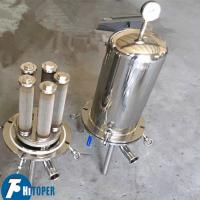 Industrial Waste Water Cartridge Filters , Fine Filtration SS Cartrifuge Filter